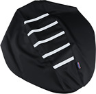 Parts Unlimited 0821-2894 Gripper Seat Cover Black/White