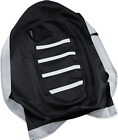 Parts Unlimited 0821-2884 Gripper Seat Cover Black/White
