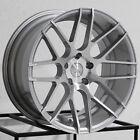 19x8.5/19x9.5 MRR GF7 5x114.3 35/40 Silver Wheels Rims Set(4)