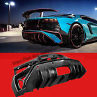 For 2012-2015 Lamborghini LP700 Real carbon fiber Rear Bumper Diffuser Lip 1pcs