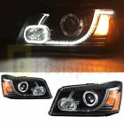 LED DRL Projector Headlights For 2001-2007 Toyota Highlander Land Rover Type US