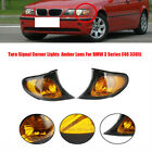 L+ R Corner Marker Light Turn Signal Yellow Lens For BMW 3 Series E46 02-05 325i