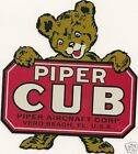 Vintage Piper Cub Decal
