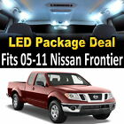 5 White LED Lights Interior Package Deal For 2005-2011 Nissan Frontier #9