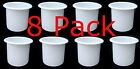 8 2 7/8 PK WHITE Chaparral bow rider Cup Holder NEW 8 Pack of drink holders 3 in