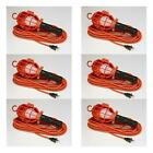 Case of 6 Incandescent Trouble Work Task Lights 25 Foot 18/2 Cord TL-25P