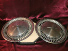 "(2) pair of vtg Chevrolet Chevy 15 1/2"" diameter ""bowtie vented"" chrome hubcaps"