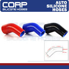 """2 1/4"""" to 2 1/2"""" 57mm - 64mm Silicone 45 Degree Elbow Reducer Pipe Hose Blue"""