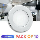 RV Boat Interior Lights 12V LED Ceiling Fixture Recessed Mount Cool White 10pcs