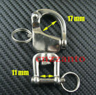 "2.7"" 316# Stainless steel swivel snap shackle sailing boat Yacht"