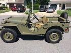 Willys : MA WW2 Prototype military Jeep MA WW2 Prototype military Jeep Willys MA WW2 Prototype military Jeep fully restored to factory class (pre G503)
