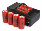 6x 2300mAh 16340 CR123A 3.7v Li-ion Rechargeable Battery + Smart Charger H437