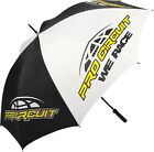 "Pro Circuit ""We Race"" Track Umbrella  Black and White with Logo 60"" opening NEW"