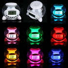 Digital Natural Sound Alarm Clock 7 Color Calendar Temperature Clock US UI - 809