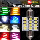 "LOT 50 X 31MM 12SMD Festoon 1.22"" Dome Map Interior LED Light bulb DE3175 DE3021"