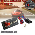 Auto Engine Start Push Button Racing Ignition Switch Toggle Carbon Fiber Panel