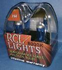 WHITE H4 9003 New Xenon Halogen HID Look Hi/Lo Beam Headlights Bulbs 8000K