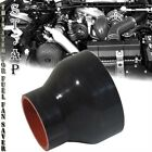 """3.25""""-3.5"""" Inch Straight Silicone Hose Coupler Reducer Turbo pipe Intake Blk/Red"""