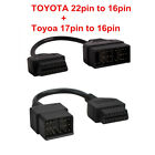 For TOYOTA 22pin to 16pin and 17pin to 16 pin OBD1 to OBD2 Connect Cable Adapter