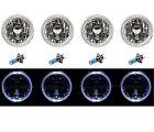 5-3/4 White LED Halo Halogen Light Bulb Cl Headlight Angel Eye Crystal Clear Set
