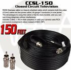 4 Pack 150 Feet Security Camera CCTV Power Premade Siamese Cable Surveillance
