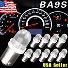 10X Xenon White BA9S LED Instrument Panel Light 1815 1895 1816 Dash Map Bulb 12V