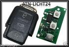 Three Button Transmission Unit & Case 1k0959753n Seat Ibiza Flip Key Bj.09-11