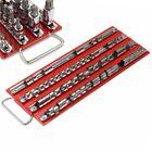 Socket Tray Rack Holds 80pc Sockets 1/4 3/8 1/2in Rail Organizer Holder Tools