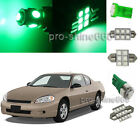 Green LED Interior 11PCS Lights for Chevrolet Chevy Monte Carlo 2000 2007