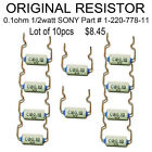 Lot of 10pcs ORIGINAL Resistor 0.1ohm 1/2watt SONY # 1-220-778-11