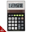 Sharp EL-R277BBK Recycled Series Handheld Calculator 8-Digit LCD [3 PACK]
