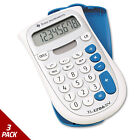 Texas Instruments TI-1706SV Handheld Pocket Calculator 8-Digit LCD [3 PACK]