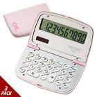 Victor 909-9 Limited Edition Pink Compact Calculator 10-Digit LCD [3 PACK]