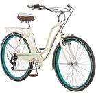 """26"""" Fairhaven Cruiser Bike for Women's Rear Rack 7-Speed Springer Saddle Cream"""