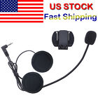 Mic/Speaker Headset+Clips for Motorcycle Helmet BT 1200M V6/V4 Series Intercoms