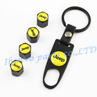 Key chain Metal Car Wheel Tyre Tire Stem Air Valve Cap For Yellow Jeep Styles