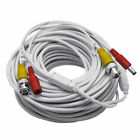 200 Feet WHITE BNC Video + DC Power Siamese Cable for CCTV Surveillance Camera