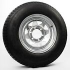 ST225/75D15 Trailer Tire Bias Ply LR D 6 Lug Mounted 15″ Galvanized Spoke Rim