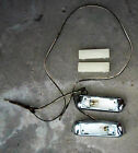 1958 Cadillac Interior Roof Dome Light Courtesy Pair w/ Lens & Wiring Used 57 58