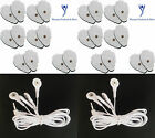 ELECTRODE LEAD CABLES(3.5mm)4 WAY+24 PALM SHAPED MASSAGE PADS FOR TENS MASSAGERS