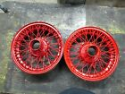 "Nice Pair of  52mm Rudge-Whitworth 16"" Wire Wheels"