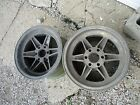 "A pair of  15x10"" Halibrand Magnesium Eagle Racing Wheels"