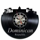 Dominican Republic Vinyl Record Clock Wall Art Home Decor