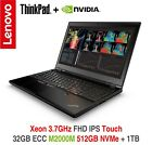 NEW ThinkPad P50 i7 3.6GHz M2000M 4K IPS 32GB 512GB PCIe +1TB CS OS Warranty P51