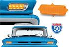 60 61 62 63 64 65 66 Chevy Truck LED Amber Park Turn Signal Light Lenses Pair
