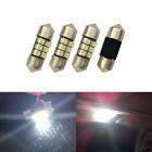 4x White 6 SMD Led Festoon 27MM 28MM Light Bulbs Map Reading Number Plate Lamp