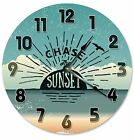 """CHASE THE SUNSET Clock - Large 10.5"""" Wall Clock - 2191"""