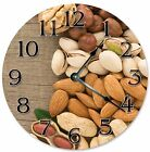 "NUTS ALMONDS Peanuts PISTACHIOS Clock - Large 10.5"" Wall Clock - 2262"