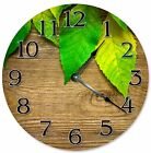 "NATURE GREEN LEAVES Clock - Large 10.5"" Wall Clock - 2263"