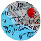 "LOS ANGELOS LOCATION Clock - Large 10.5"" Wall Clock - 2264"